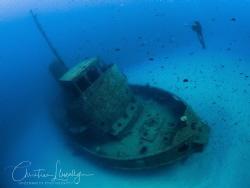 The Wreck Rozi -  Malta by Christian Llewellyn