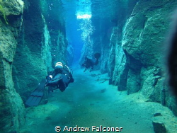 The coldest clearest water that I have ever dived in, at ... by Andrew Falconer
