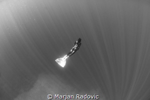 Freediving at island Vis / Croatia by Marjan Radovic