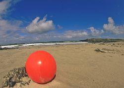 Red buoy - fisherman's buoy washed up on Connemara beach.... by Mark Thomas