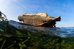 Fragments of the Panama Loullia cargoship which has sunk ... by Sergey Lisitsyn