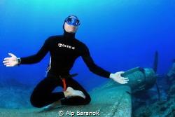 The best meditaiton is underwater by Alp Baranok