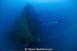 The Valfiorita Shipwreck Bow - Strait of Messina - Italy by Marco Bartolomucci