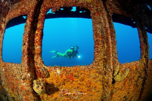 """A room with a view"", Fang Ming wreck, La Paz, Mexico. Mo... by Filip Staes"