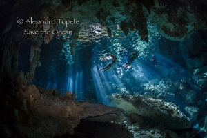 Snorkels in the Cavern, Playa del Carmen México by Alejandro Topete