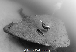When you and your dive buddy get a whole ship to yourself... by Nick Polanszky