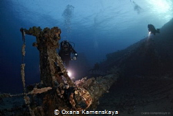 Wreck Kimon M. Red Sea. by Oxana Kamenskaya