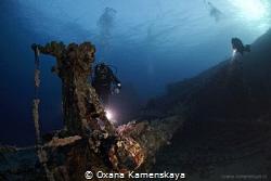 Wreck Kimon M. Red Sea. by Oxana Kamenskaya