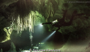 image from cave diving in Mexico by Susanna Randazzo