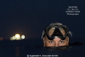 """Navy Night"" - Carrie Dutchak surfaces following a dusk d... by Susannah H. Snowden-Smith"