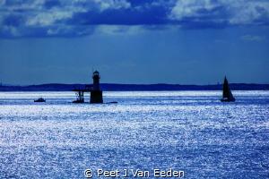 Rhapsody in Blue  Lighthouse at Simon's Town by Peet J Van Eeden