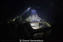 SS Thistlegorm. Inside cargo holds. by Oxana Kamenskaya