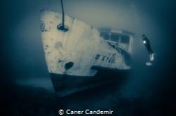 """ 9 Eylül "" Passenger Shipwreck and diver by Caner Candemir"