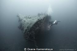 El Mina wreck by Oxana Kamenskaya