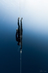 Thibault Guignes from France, champion freediver on his w... by Kohei Ueno