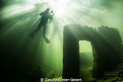 light explosion... Traun River in Austria - an ancient f... by Claudia Weber-Gebert