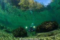 Traun river underwater landscape by Claudia Weber-Gebert