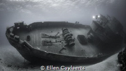 Ex-USS Kittiwake on her side after Tropical Storm Nate (2... by Ellen Cuylaerts