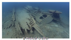 The wreck of the schooner Caroline Rose near Tobermory. C... by Michael Grebler