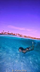 Free diver by Masa Biru