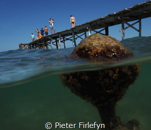 The pier @ Muro/Mallorca by Pieter Firlefyn