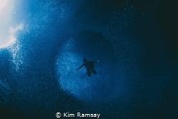 Vortex. Freediver floats amidst the baitfish of Swallows... by Kim Ramsay
