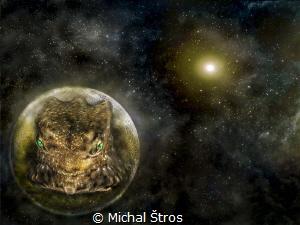 Alien on a remote planet by Michal Štros