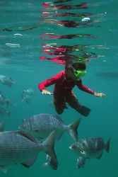 Welcome to the underwater world kid. Remember those days ... by Tyania Diffin