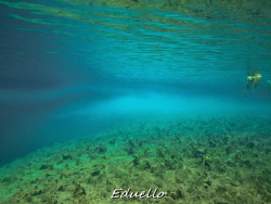 Clear water, awesome views. by Eduard Bello