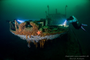 Parat ww2 wreck is laying on 60meter in Norway. by Rene B. Andersen