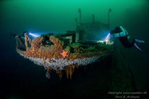 Parat ww2 wreck is laying on 60meter in Norway. by Rene B. Andersen