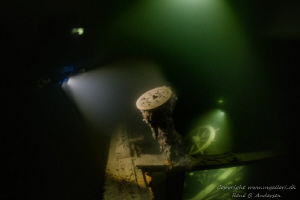 The Wreck Helge laying on 50 meter depth in Åland, Finlan... by Rene B. Andersen