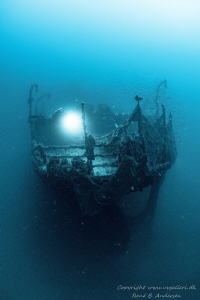 Ghost ship. From the wreck Vis Laying on 60meter by Rene B. Andersen