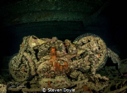 Wreck of the SS Thistlegorm, Red Sea, Egypt. BSA motorbik... by Steven Doyle