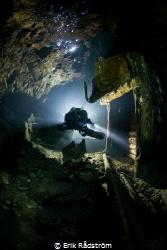Tuna Hästberg abandoned mine. At 90m underground you ent... by Erik Rådström