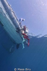 diver in the sky by Masa Biru