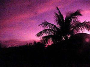 Sunset through a UR filter at the Saipan Grotto by M. Dalsaso