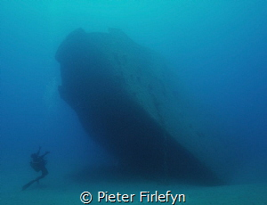 Giannoula K wreck/Rodhes Greece by Pieter Firlefyn