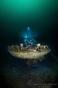 Parat WW2 wreck in Norway, laying on 60m depth. by Rene B. Andersen