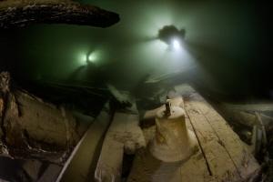 The Wreck Helge laying on 50 meter depth in Åland, Finlan... by Rene B. Andersen