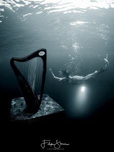 """The mermaid and the harp"", TODI, Belgium. Mermaid: Maria... by Filip Staes"