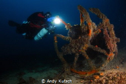 Wreck Parts at Misi (Borans Wreck) near Biograd n/M by Andy Kutsch