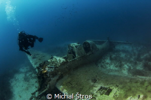 German WWII bomber Junkers 87 R-2 (Stuka) at Zirje island by Michal Štros