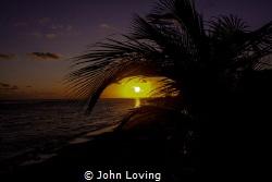 Sunset on Little Cayman by John Loving