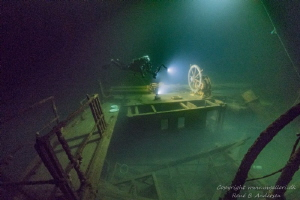 Unknown wreck laying on 75m in the Baltic sea. by Rene B. Andersen