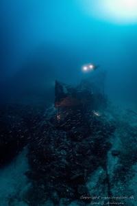 Fortunal wreck laying in Croatia near the Vis island on 5... by Rene B. Andersen