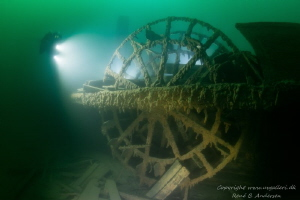 Old paddle steamer build in 1836, went down in 1856 so th... by Rene B. Andersen
