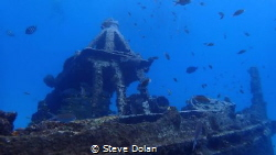 Diving around a wreck in Barbados by Steve Dolan