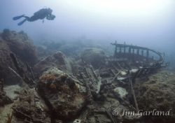 Wreck Graveyard - Vela Luka. EOS5D, 15mm Sigma Fisheye an... by James Garland