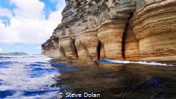 """Pillars of Hercules"" Limestone pillars carved by wind an... by Steve Dolan"